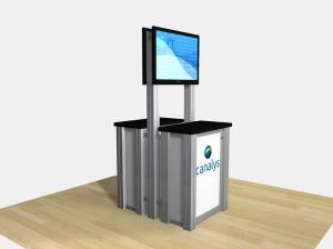 RE-1256 / Double-Sided Counter Kiosk